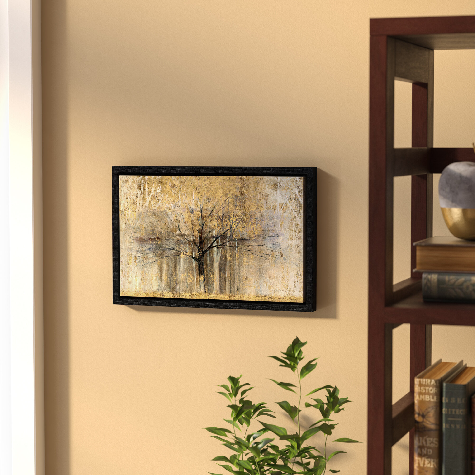 Andover Mills \'Open Arms Gold\' Framed Painting Print & Reviews | Wayfair