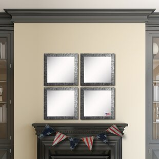 Find a Holeman Safari Silver Wall Mirror (Set of 4) ByWilliston Forge