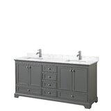 Deborah 72 Double Bathroom Vanity Set by Wyndham Collection