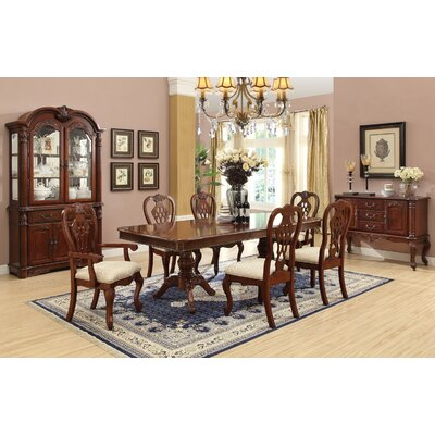 e Allium Way Dasher 7 Piece Removable Leaf Table with Nail Head
