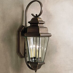 Compare prices Bigley 4-Light Outdoor Wall Lantern By Darby Home Co