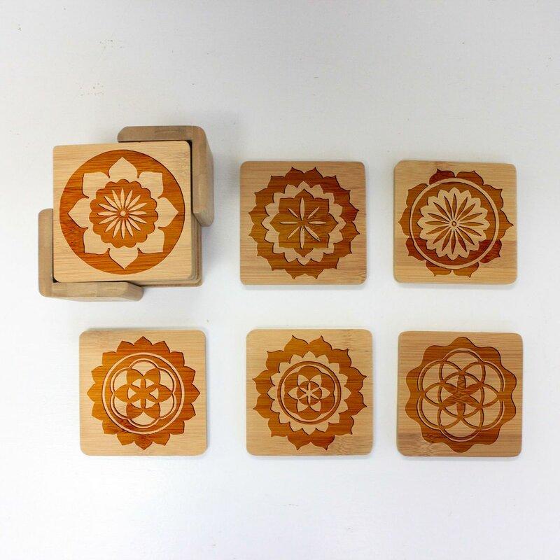 Dakota Fields Custom Engraved Coaster Set With Holder Wayfair