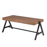 Steubenville Solid Wood Trestle Coffee Table by Williston Forge