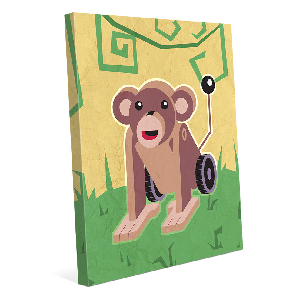 Click Wall Art \'Robo Monkey\' Graphic Art on Wrapped Canvas | Wayfair