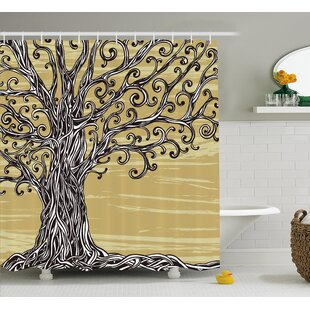Bealeton Of Life Nature Eco Sketchy Single Shower Curtain by Latitude Run Looking for