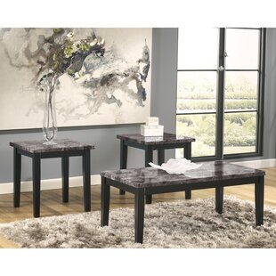 Taneya 3 Piece Coffee Table Set Red Barrel Studio Top Reviews