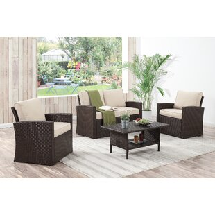 Kingsbury 4 Piece Sofa Set with Cushions