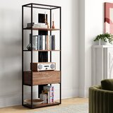 Giselle 65.75 H x 23.25 W Metal Etagere Bookcase by Foundstone™