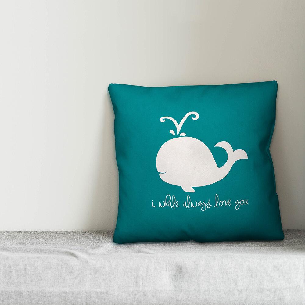 Zoomie Kids Kacie Whale Always Love Throw Pillow Wayfair