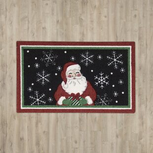 Affordable Hanson Santa Black Area Rug By Charlton Home