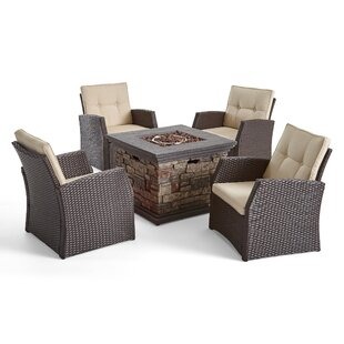 Look for Havana 5 Piece Multiple Chairs Seating Group with Cushions Best price