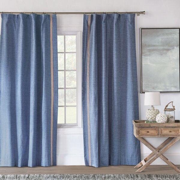 Eastern Accents Paloma Woven Solid Rayon Room Darkening Rod Pocket Single Curtain Panel Wayfair