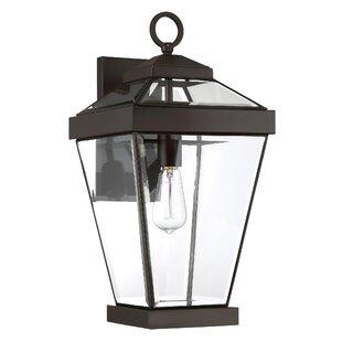 Gracie Oaks Lauren 1-Light Metal Outdoor Wall Lantern