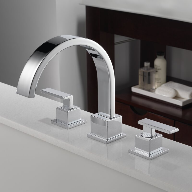 Delta Vero Double Handle Deck Mount Roman Tub Faucet Trim & Reviews ...