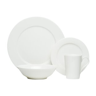 Laleia Bone China 16 Piece Dinnerware Set, Service for 4