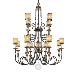 Metropolitan by Minka Terraza Villa 13-Light Shaded Chandelier