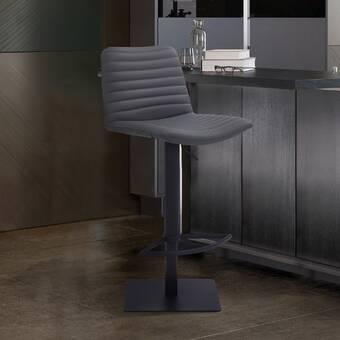 Orren Ellis Glenwhirry Swivel Adjustable Height Bar Stool Reviews Wayfair