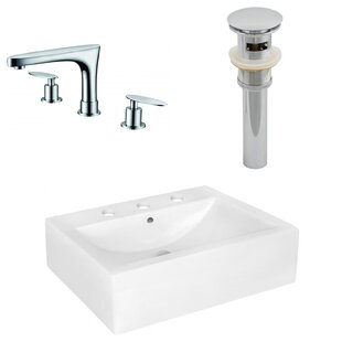 Find Above Counter Ceramic Rectangular Vessel Bathroom Sink with Faucet and Overflow By Royal Purple Bath Kitchen