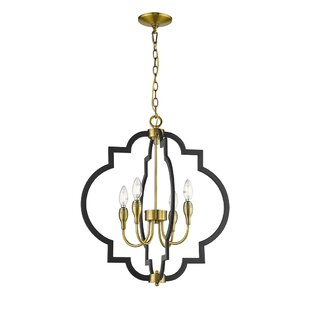 Tamara 4-Light Geometric Chandelier by Ove Decors