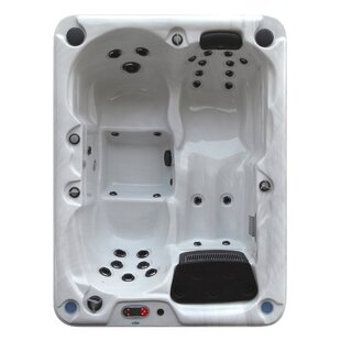 Canadian Spa Co Quebec 4-Person 29-Jet Plug and Play Spa with Waterfall