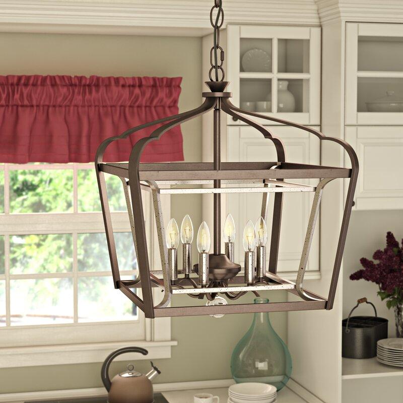 Laurel Foundry Modern Farmhouse Evangeline 6-Light Lantern