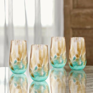 Simone Highball 20 oz. Glass Highball Glasses (Set of 4)