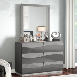 Moumoune 6 Drawer Dresser with Mirror