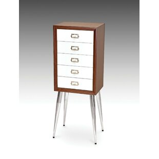 Brycen Metal and Wood Free Standing Jewelry Armoire