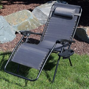 Oversized Zero Gravity Chair With Pillow And Cup Holder Good Looking