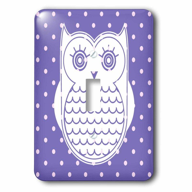 3drose Cute Polka Dot Owl 1 Gang Toggle Light Switch Wall Plate Wayfair