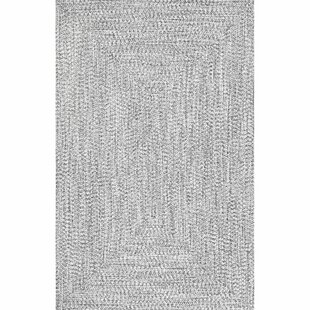 Kulpmont Hand-Braided Gray Indoor/Outdoor Area Rug By Wade Logan
