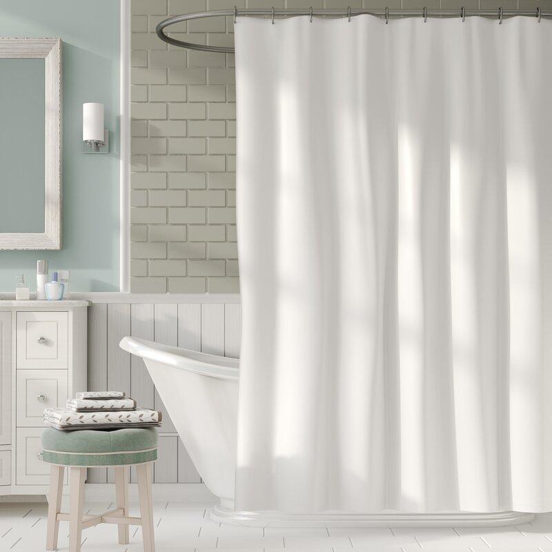 Symple Stuff 2-in-1 Waterproof Shower Curtain & Reviews   Wayfair