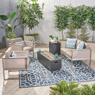 Hanish 5 Piece Sofa Seating Group with Cushions