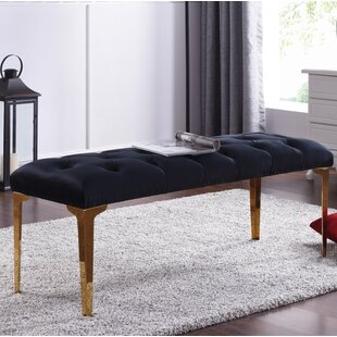 Online Reviews Willaims Metal Upholstered Bench ByMercer41