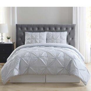 Marguez Everyday Gingham Pleat Comforter Set