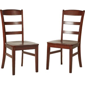 Cargile Ladderback Solid Wood Dining Chair (Set of 2) by Darby Home Co