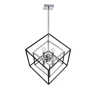 Elizalde 6-Light Geometric Chandelier by Brayden Studio