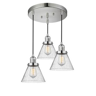 Williston Forge Boutte 3-Light Cluster Pendant