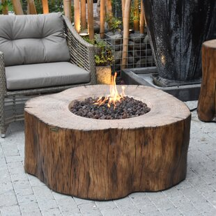 Rodolfo Burning Stump Concrete Propane Fire Pit Table By Sol 72 Outdoor