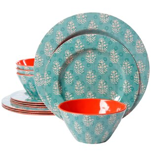 Evianna 12 Piece Melamine Dinnerware Set, Service for 4