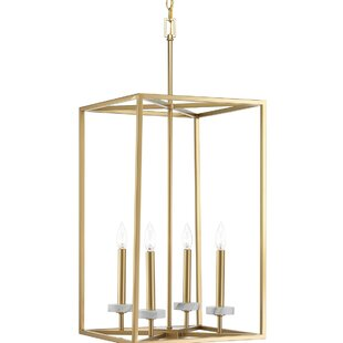 Mercer41 Jancis 4-Light Square/Rectangle Chandelier