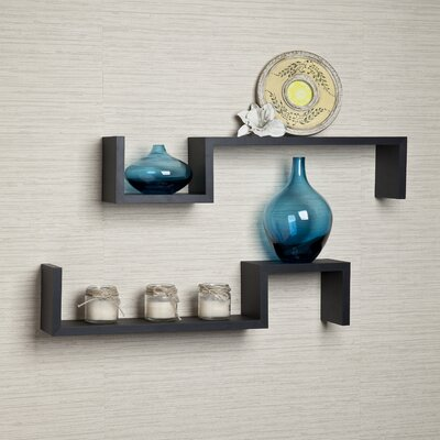 Brayden Studio Wall Shelf Finish: Black