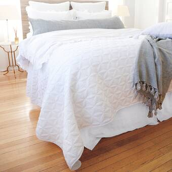 Eastern Accents Carmine Ivory Checkered Cotton Coverlet Perigold