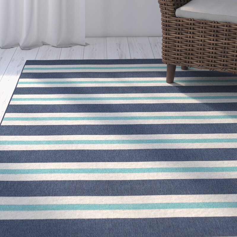Springwater Blue/Ivory Indoor/Outdoor Area Rug & Reviews | Joss & Main