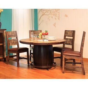 Round 5 Piece Solid Wood Dining Set Artisan Home Furniture