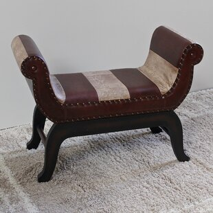 Bloomsbury Market Miuccia Traditional Wood/Faux Leather Bench