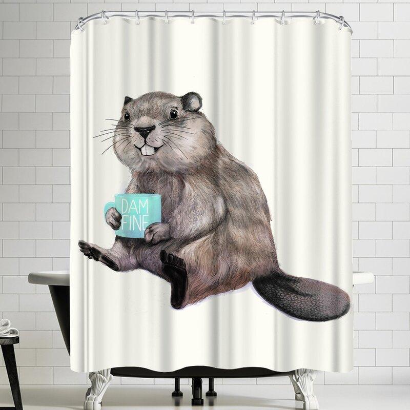 Laura Graves Damnfine Coffee Shower Curtain