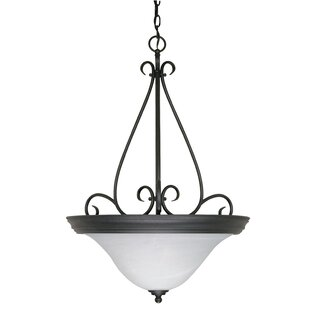 Fleur De Lis Living Claycomb 3-Light Bowl Pendant