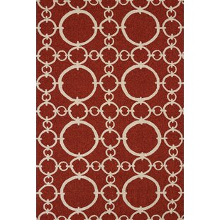 Chainweaver Hand-Woven Cherrystone Red Indoor/Outdoor Area Rug