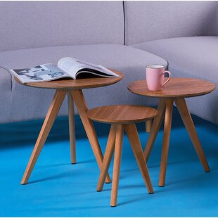 Schneck 3 Piece Coffee Table Set (Set of 3) by Wrought Studio